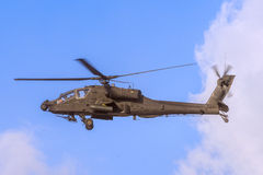 Apache Helicopter in Flight Royalty Free Stock Image