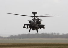 Apache Helicopter Gunship. An Apache attack helicopter on a training mission Stock Photography