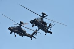 Apache Helicopter in harmony stock photo