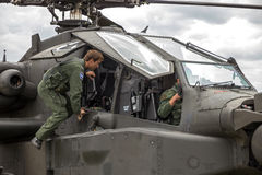 Apache helicopter pilot Stock Image