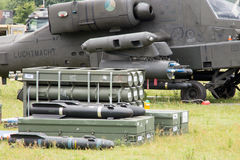 Apache helicopter weapons Stock Photography