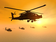 Apache Helicopters Royalty Free Stock Image