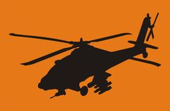 apache helikopter royaltyfri illustrationer