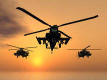 Apache helikopter Zdjęcie Royalty Free