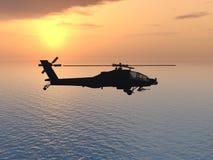 Apache helikopter Fotografia Stock