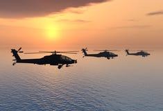 Apache helikoptery Obrazy Royalty Free