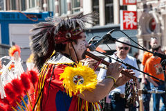 Apache indians - Koninginnedag 2012 Royalty Free Stock Images