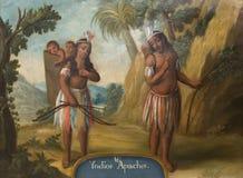 Apache indians, 18th century depiction stock photo