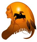 Apache lady royalty free stock photo