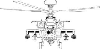 Apache machiny wojennej wektor ilustracji