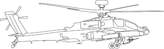 Apache machiny wojennej wektor royalty ilustracja