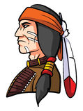 Apache Mascot royalty free illustration