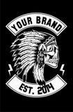 Apache Skull Biker  Royalty Free Stock Photos