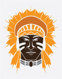 Apache. Symbol illustrator design .eps 10 Vector Illustration