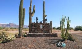 Apache złącze, Arizona: Przegrany holender kopalni pomnik Obraz Royalty Free