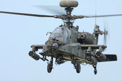 Apachelongbow-Hubschrauber Lizenzfreies Stockfoto