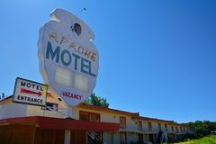 Apachemotel op Historisch Route 66 royalty-vrije stock afbeelding