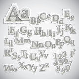 Apagado rasgados alfabetos Foto de archivo libre de regalías
