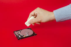 Apagando arquivos sensíveis Fotografia de Stock