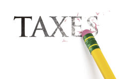 Apagando impostos Imagem de Stock Royalty Free