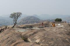 ApagudHanuman tempel Hampi Indien Royaltyfria Foton