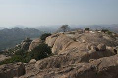 ApagudHanuman tempel Hampi Indien Arkivfoton