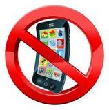 Apague la muestra de los teléfonos móviles Imagen de archivo libre de regalías
