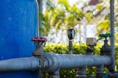 Apague las válvulas del abastecimiento de agua Fotografía de archivo libre de regalías