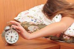 Apague un reloj de alarma Imagen de archivo libre de regalías