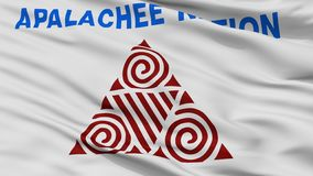 Apalachee Nation Indian Flag Closeup View vector illustration