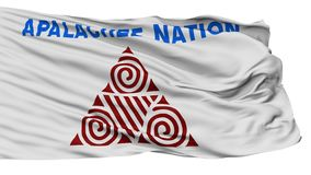 Apalachee Nation Indian Flag, Isolated On White vector illustration