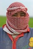 Apamea的,叙利亚年轻农夫妇女 免版税库存图片