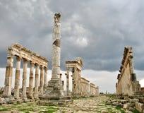 Apamea - след античных силы и shine Стоковое Фото