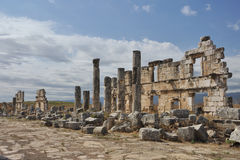 Apamea - ancient ruins. Apamea or Apameia was a treasure city and stud-depot of the Seleucid kings, was capital of Apamene, on the right bank of the Orontes Royalty Free Stock Photography