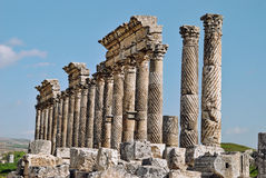 Apamea. Is a former city and lesser known set of ruins located north of Hama, Syria Royalty Free Stock Photos