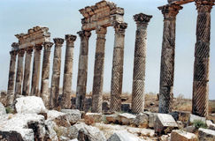 Apamea pillars Royalty Free Stock Image