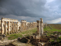 Apamea before a thunder-storm Royalty Free Stock Photography