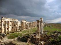 Apamea before a thunder-storm Royalty Free Stock Photography