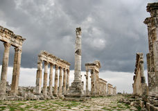 Apamea before a thunder-storm Stock Images