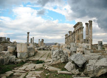 Apamea - it is a trace of antique power and shine Stock Photos