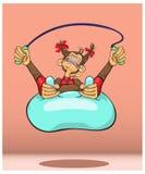 Apan - ett symbol av det nya året, leksportar Royaltyfri Fotografi