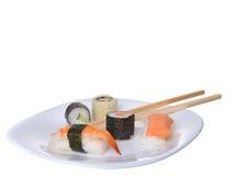 Apanese sushi rolls Stock Image