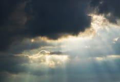 Apanni con i raggi del sole Immagini Stock
