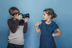 A aparência europeia do adolescente do menino fotografa adolescente fotografia de stock