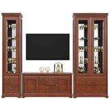 Aparador com armário dos utensílios e tevê, vista dianteira ilustração royalty free