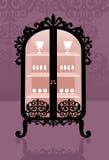 Aparador de madeira cor-de-rosa Imagens de Stock Royalty Free