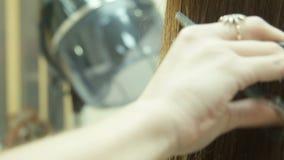 Aparador y corte de pelo del pelo almacen de video