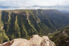 aparados巴西峡谷da福特莱萨serra 图库摄影