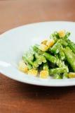Aparagus avec des miettes Photos libres de droits