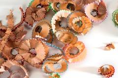 Aparas coloridos do lápis Fotos de Stock